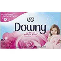 120-Count Downy April Fresh Fabric Softener Dryer Sheets