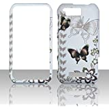 2D Black Butterfly Motorola Photon Q LTE XT897 Sprint Case Cover Phone Snap on Cover Case Faceplates