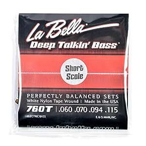 la bella 760ts deep talkin bass white nylon short scale tape wound 60 115 musical. Black Bedroom Furniture Sets. Home Design Ideas