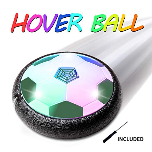 Refasy Toys Gifts for 3-12 Year Old Boys, Children Floating Soccer Ball for Toddlers Kids Toy with Flashing Colored LED Lights Super Fun Indoor Sport New Football Toys and Games for Boys Girls Green ()