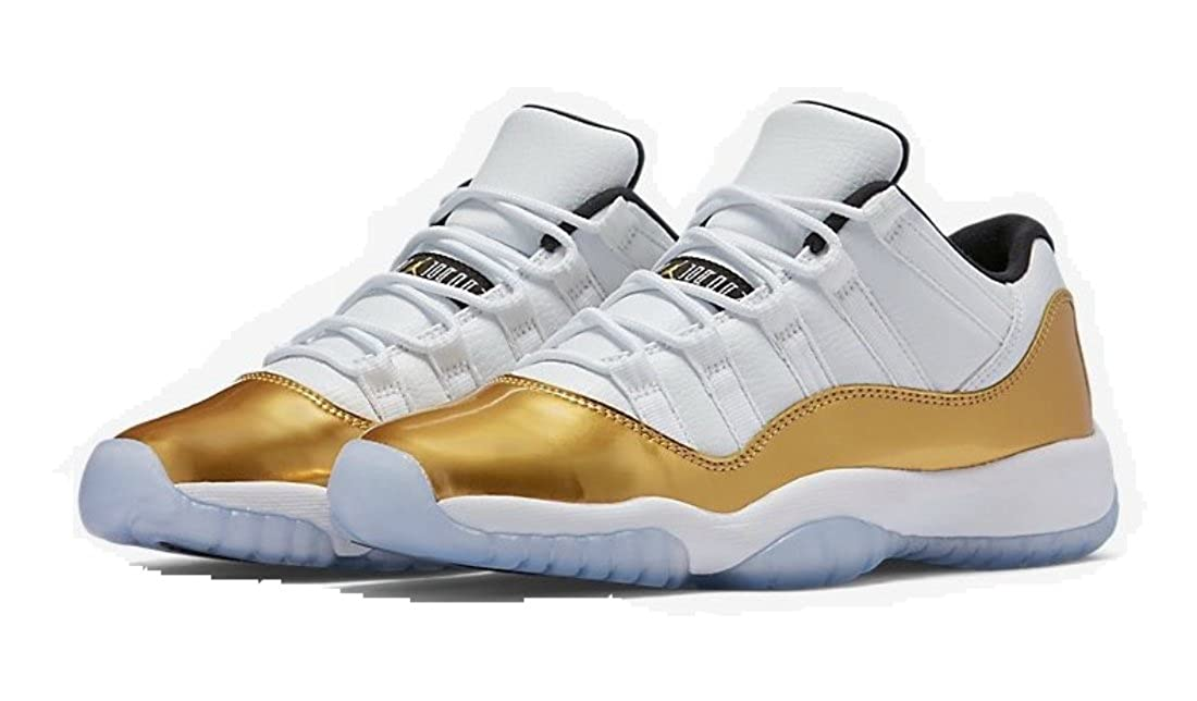 buy online b0dde 62373 Jordan AIR 11 Retro Low  White Metallic Gold  Closing Ceremony August 27  2016 Release Men s Shoe Size
