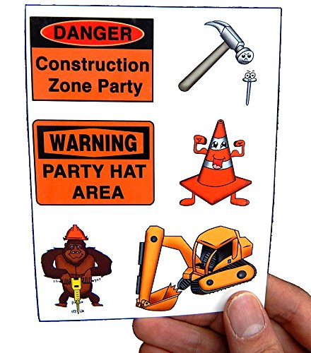 [Premium Construction Zone Tattoos, Party Favors, Tattoo] (Hammer And Nail Halloween Costumes)
