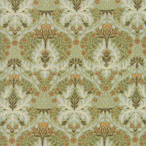 Moda Fabrics V and A Morris Garden Sage Autumn Flower 1888 ()