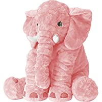 XMWEALTHY Unisex Baby Elephant Plush Doll Cute Large Size Stuffed Animal Plush Toy Doll Gifts for Girls Boys