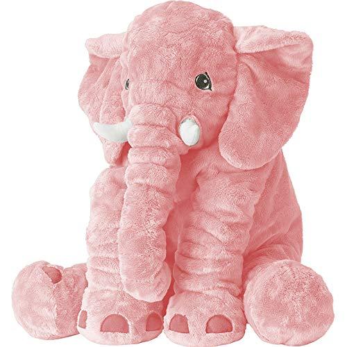 XMWEALTHY Unisex Baby Elephant Plush Doll Cute Large Size Stuffed Animal Plush Toy Doll Gifts for Girls Boys ()