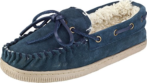 Mirak Womens Original Suede Taw Slipper Shoes Ladies Casual Warm Footwear Navy 7eklPo5