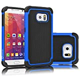 (US) Galaxy S7 Case, Tekcoo [Tmajor Series] [Blue/Black] Shock Absorbing Hybrid Rubber Plastic Impact Defender Rugged Slim Hard Case Cover Shell For Samsung Galaxy S7 S VII G930 GS7 All Carriers