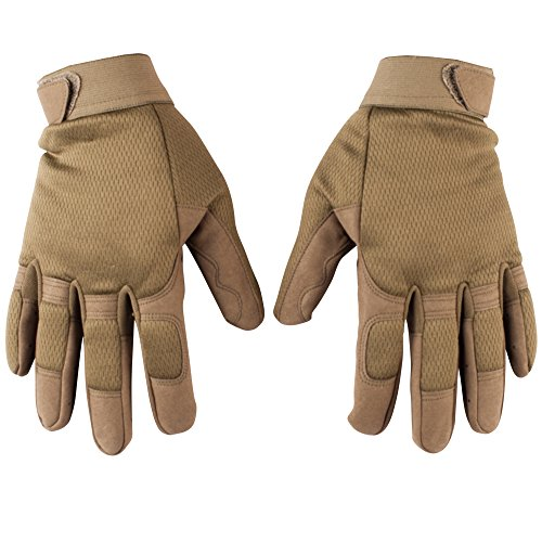 Adventure Gloves (GLV241;L-Men's Green Outdoor Adventure Gloves with Adjustable Cuff)