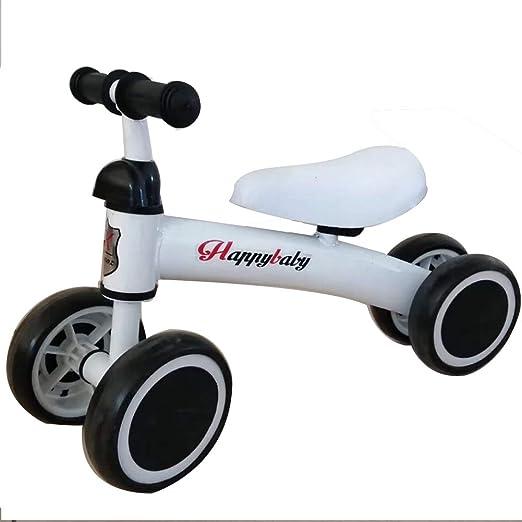 WQING Equilibrio para niños Coche Que se desliza Paso Pedal Bicicleta Coche Niño pequeño Scooter Rueda Ancha Scooter,White: Amazon.es: Deportes y aire libre