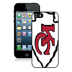 iPhone 5S Kansas City Chiefs Black Screen Phone Case Charming and Unique Design