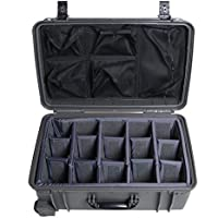 Gunmetal Grey Seahorse SE920 case with padded dividers and Lid organizer.