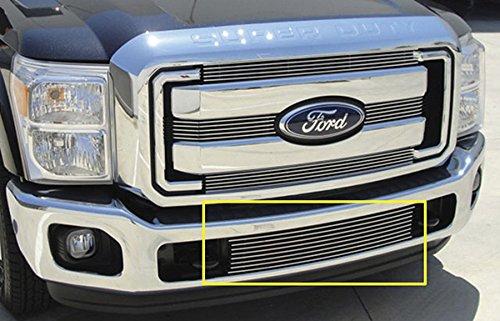 T-Rex Grilles 25546 Horizontal Aluminum Polished Finish Billet Bumper Grille Bolt-on for Ford Super (Valance Billet)