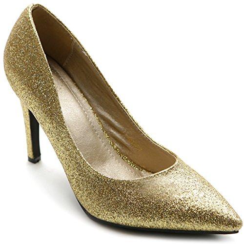 Ollio High Women's Glitter Shoe High Ollio Heel Multi Color Pump B00GYJNWG0 Parent cc574c