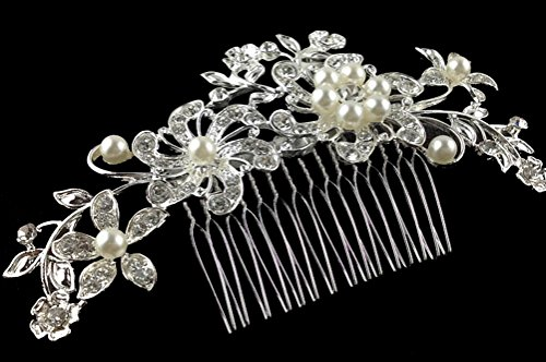 [Crystal Jewelry Comb Bridal Headpiece Hair Clip Headband] (Halloween Decor Ideas 2016)