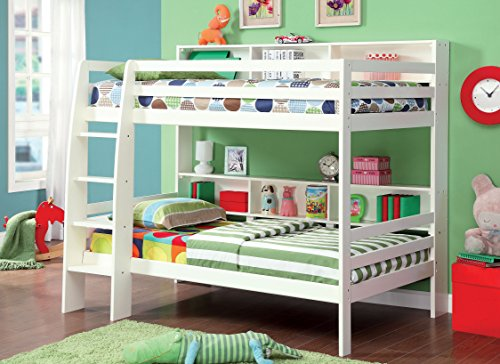 HOMES: Inside + Out ioHOMES Dorsie Bunk Bed, Twin, White/Espresso