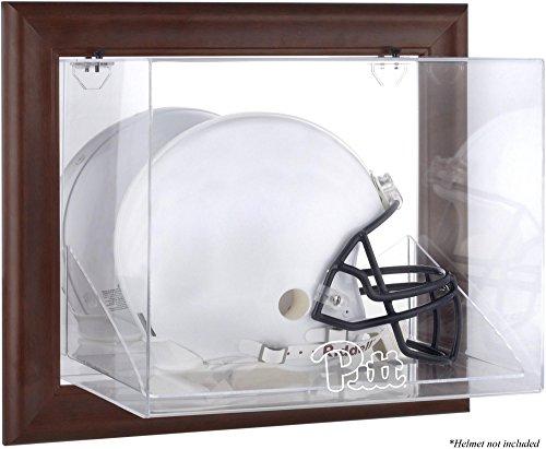 Pittsburgh Panthers Brown Framed Wall Mountable Helmet Display Case