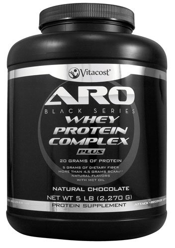 ARO-Vitacost Black Series Whey Protein Complex PLUS Natural Chocolate -- 5 lb (2270 g) - 3PC by ARO-Vitacost