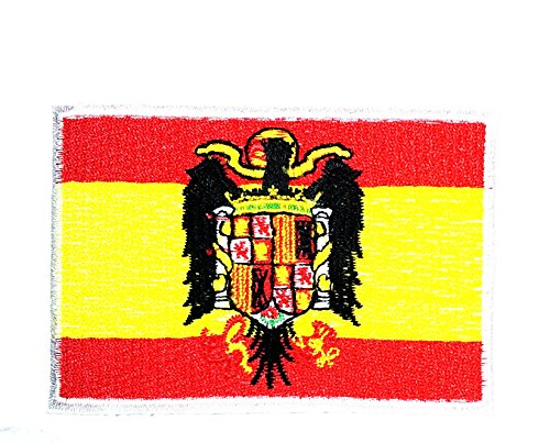 Spain Espana Plus Ultra National Patch Sew Iron on Logo Embroidered Patch Iron On Sew On National Emblem Patch Jacket T Shirt Patch Sew Iron on Embroidered Symbol Badge Cloth (King Of Spain Costume)
