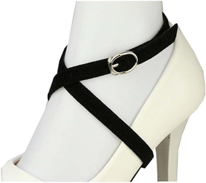 Sangle de chaussure amovible en daim pour femme, talons hauts anti loose accessoires de lacet, A