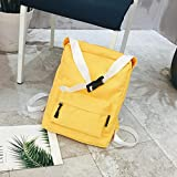 Aobiny Backpack Leisure Soft Leather Travel Backpack Shoulder Bag For Students (Yellow)