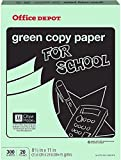 Office Depot Colored Copy Paper, Green, 8 1/2 Inch x 11 Letter Size, 20 lb. Density, 300 Sheets Pack (375-283)