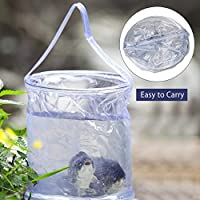 AceCamp 10L Multifunctional Collapsible Water Buckets & Folding Pails, Portable Can, Lightweight Tub with Handles for Camping, Dirty Laundry, Fishing, Hiking, Outdoors, Rain Catcher (Transparent)