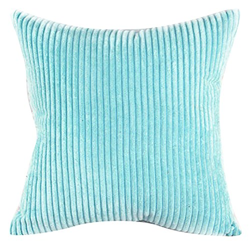 Square/Rectangle Solid Cnady Color Printed Cushion Cover ChezMax Corduroy Striped Throw Pillow Case Sham Slipover Pillowslip Pillowcase For Living Room Sofa Couch Chair Back Seat