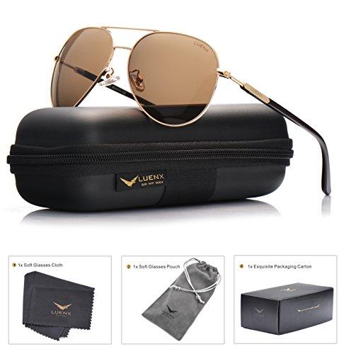 LUENX Aviator Sunglasses Polarized Glasses
