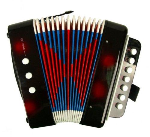 Enfants Musical Instrument de musique Accordéon Bouton Jouets Grand cadeau pour des enfants Noir Hwydo