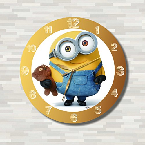 Minions 11.4'' Handmade Wall Clock - Get unique décor for home or office – Best gift ideas for kids, friends, parents and your soul mates