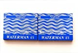 Waterman - 2 X 8 Washable Blue Serenity Ink Cartridges In Carton Box