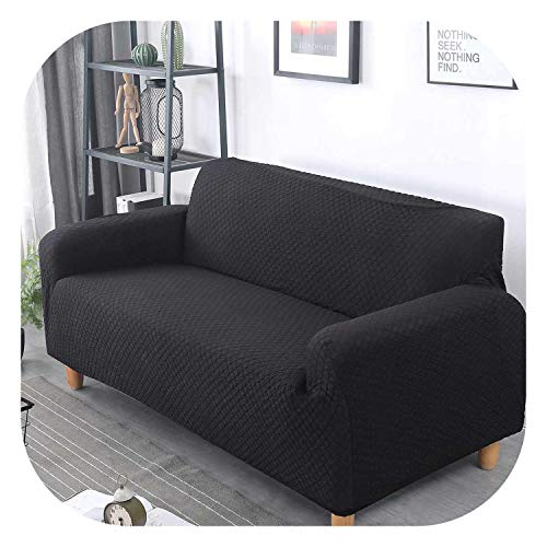 - Witch-House Japanese Solid Spandex Knitting Slipcover Sofa Non-Slip Elastic Full Sofa Cover 1/2/3/4 Seater Stretch Pillow Case Chair Covers,Black,1pcs Chair Cover