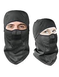 Windproof Ski Face Mask Motorcycle Balaclava Hood Fleece Mask for Camping Sport