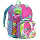 """DreamWorks Trolls 16"""" Large Backpack with Insulated Lunch Tote Bag"""