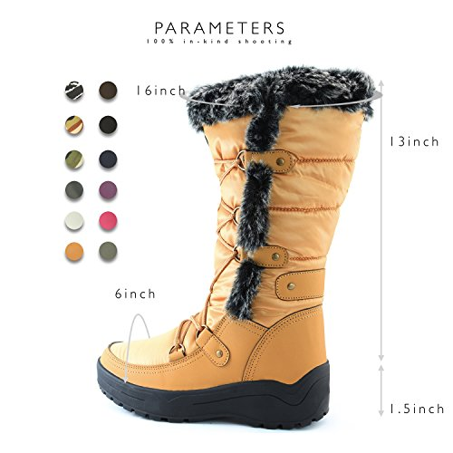 Knee Woman's Eskimo Fur up Warm High Mustard Resistant Water Snow Women's DailyShoes Boots xwCzqRE