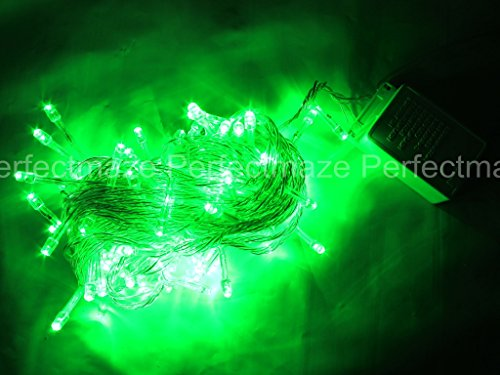 Perfectmaze 10M 100 LED String Fairy Lights Christmas Wedding Party Xmas Light (Connectable) (Green)