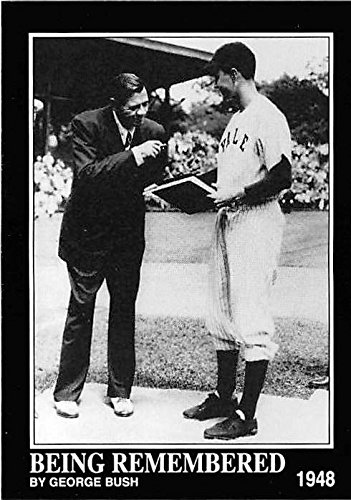 Babe Ruth meets President George Bush baseball card, used for sale  Delivered anywhere in USA