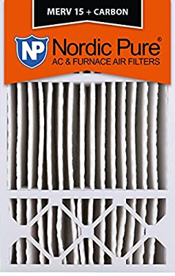 Nordic Pure MERV 15 Plus Carbon Air Filters Qty 1 Honeywell Replacement