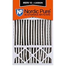 Nordic Pure 16x25x5HM15+C-1 Honeywell Replacement MERV 15 Plus Carbon AC Furnace Air Filters, Quantity 1