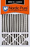 Nordic Pure 16x25x5 (4-3/8 Actual Depth) MERV 15 Plus Carbon Honeywell Replacement AC Furnace Air Filters, Box of 1