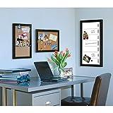 DesignOvation Wyeth Framed Burlap Pockets Wall Organization Board, Black