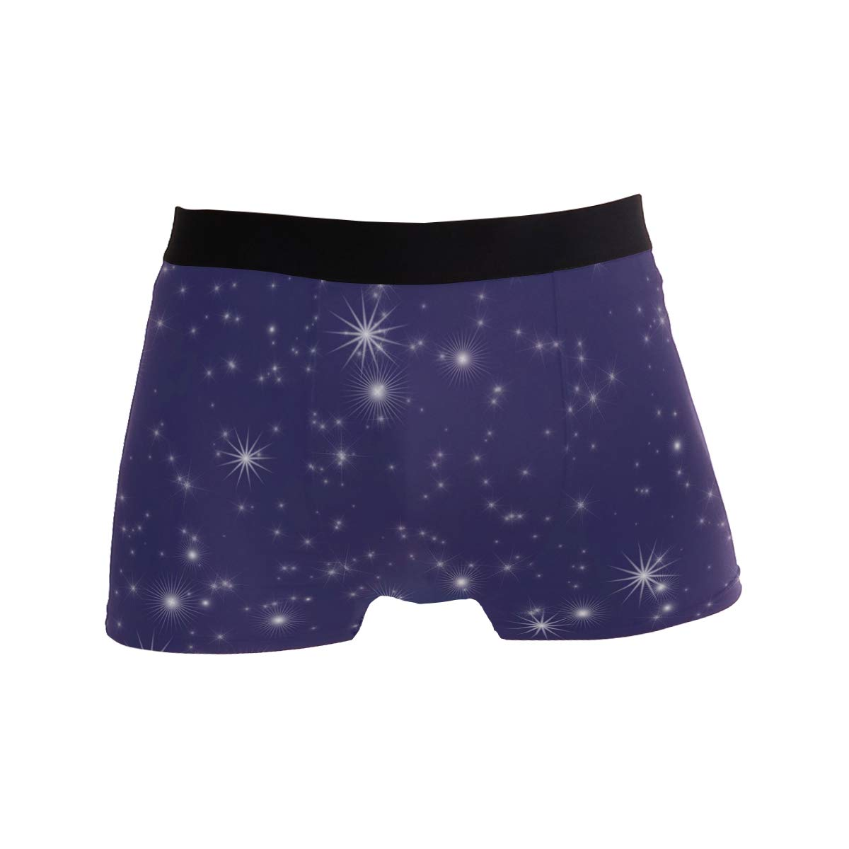 LEFEI Beautiful Stars Men/'s Underwear Boxer Briefs Polyester Spandex Pouch,2-Pack,S