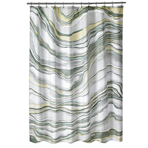 Shell Rummel Sand Stone Shower Curtain, Multicolor