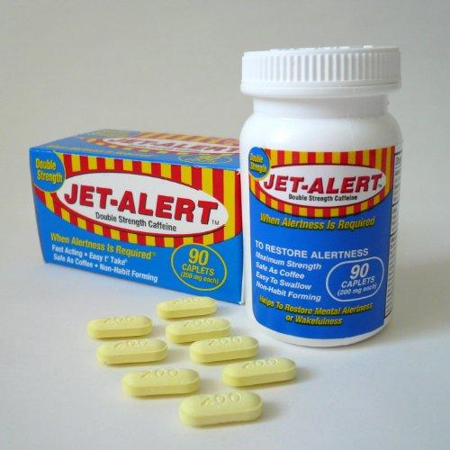 Jet Alert Double Strength Alertness Aid Caplets, 200mg-90 Ct Value Packs - 90 Pills 200 Mg