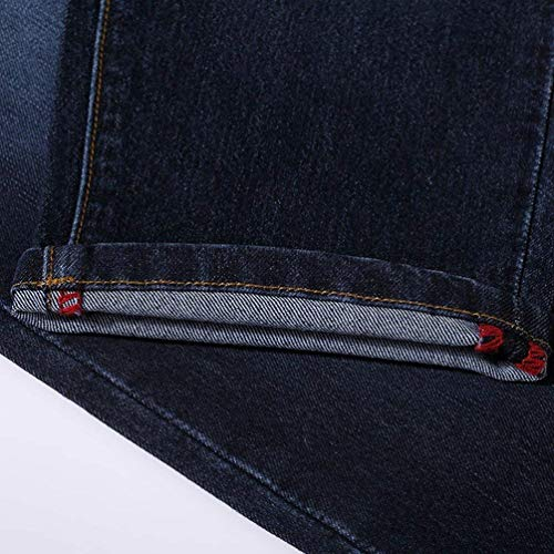 Flacos Bolsillos Fit Ropa Adelina 7 Mezclilla Jeans Botones Pantalón Moda Capri Mujer Vaqueros Pantalones Schwarz Blau 8 Con Slim De Estiramiento Para paqtxaP