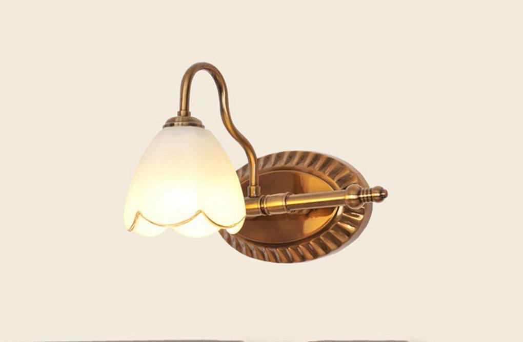 Energie sparen Spiegel vorne Lichter, American Style LED Spiegel vorne Licht Bad Badezimmer Europäischen Stil Dressing Tisch machen Spiegel Spiegel vorne Licht Dauerhaft (Größe   1 Kopf)