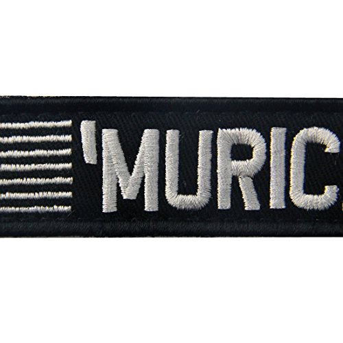 MURICA USA Flag Patch Embroidered Tactical Applique Army Morale Hook & Loop Emblem