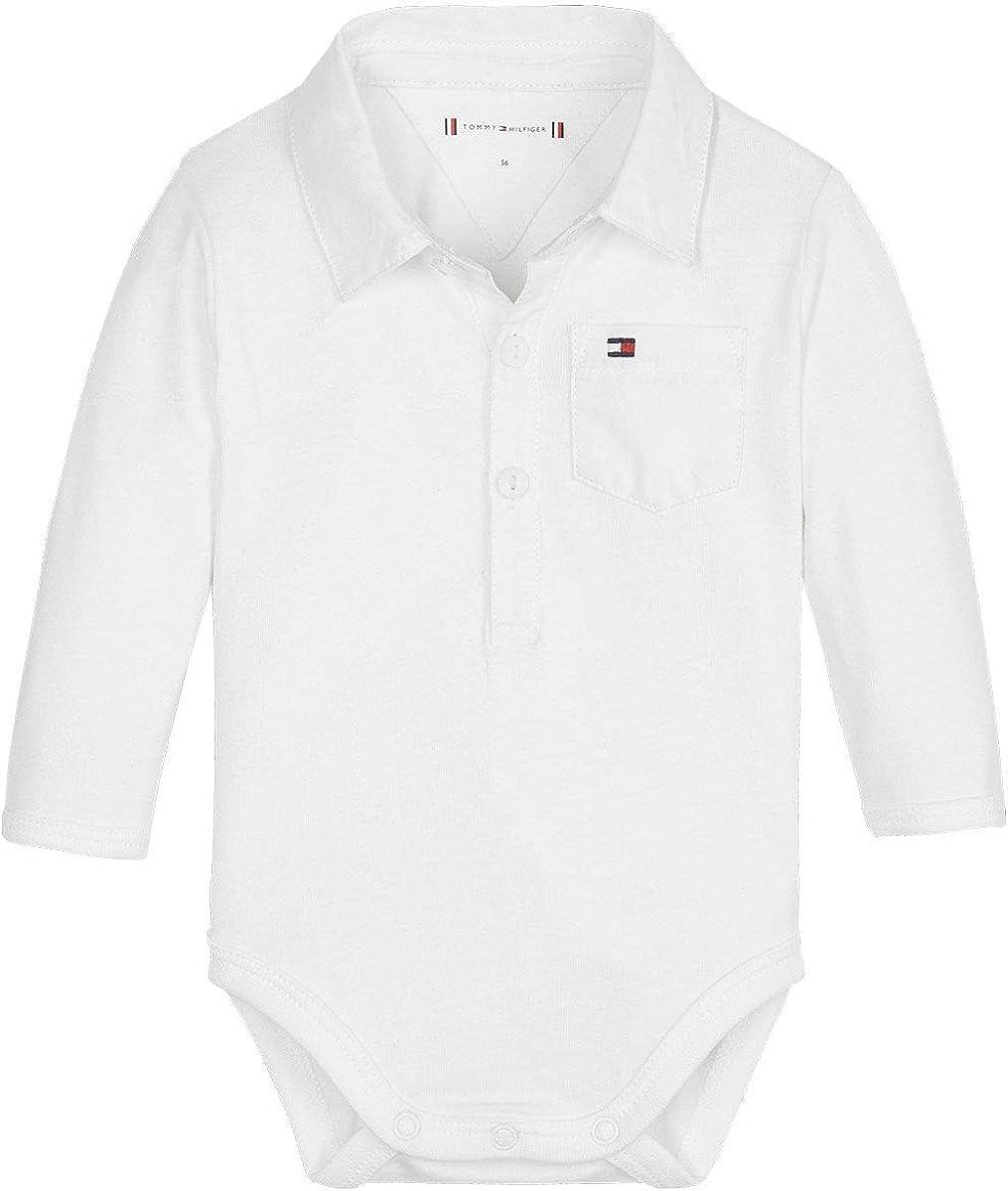 Tommy Hilfiger Baby Boy Poplin Body L//S Shaping Bodysuit