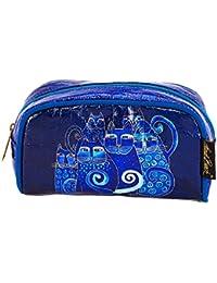 Indigo Cats Foil Cosmetic Bag