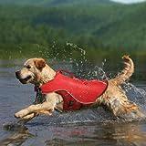 Kurgo Surf n' Turf Dog Lifejacket and Coat, Large, Red, My Pet Supplies